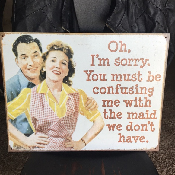 Vintage Other - Distressed Metal Quote Sign